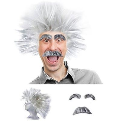 Mad Scientist Costume - Scientist Costume - Scientist Wig - Physicist Costume -