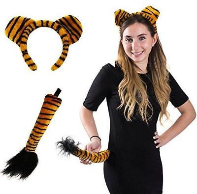Tiger Headband and Tail - Tiger Costume - Animal Costume Accessory Set by Funny
