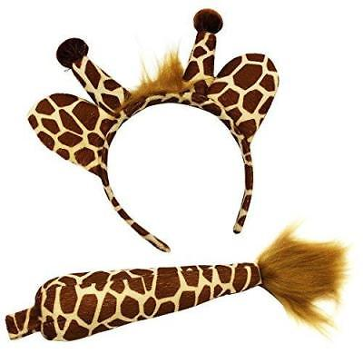 Giraffe Headband and Tail - Giraffe Costume - Animal Costume Accessory Set by Fu