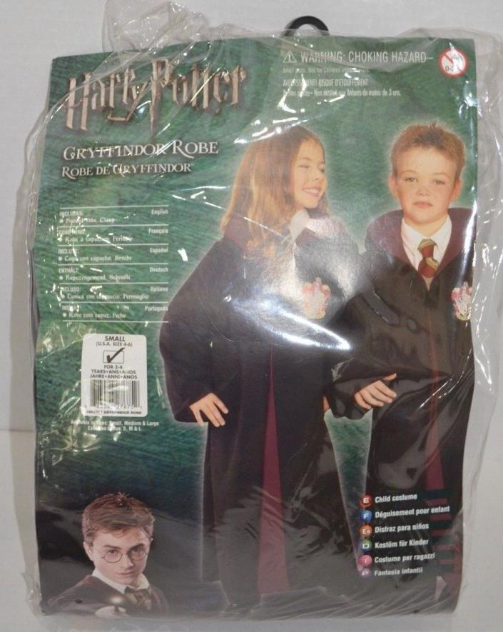 Harry Potter Gryffindor Robe Costume Child Size 4-6