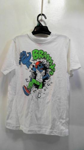 SS Halloween Tee White Green Boys Kids Top Shirt Oktoberfest SZ M Solid