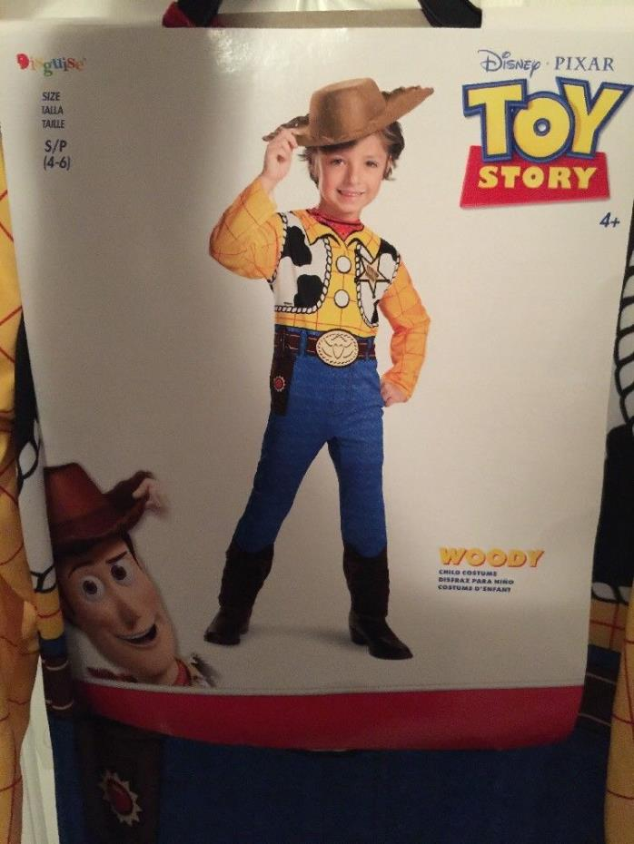 Disguise-Child-Small-4-6-Disney-Toy-Story-Woody-Costume-Jumpsuit-&-Hat-Dress-Up