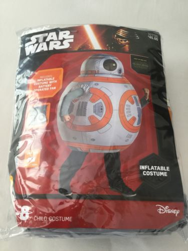 Disney Star Wars BB-8 Inflatable Costume ONE SIZE 5 - 7 Years