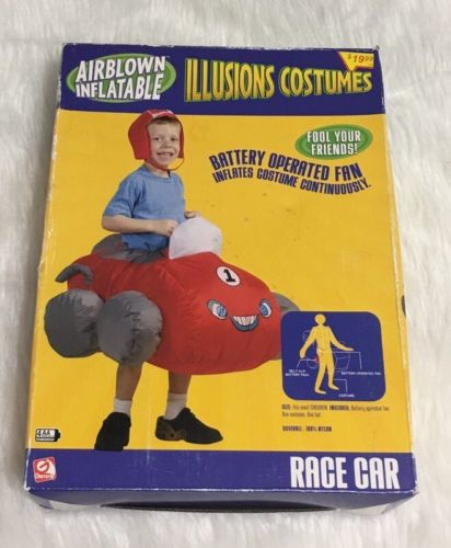 Airblown Inflatables Halloween Race Car Illusion Costume Kids New In Box!