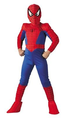 Boys Spiderman Deluxe Muscle Costume Marvel Homecoming Ultimate Amazing child
