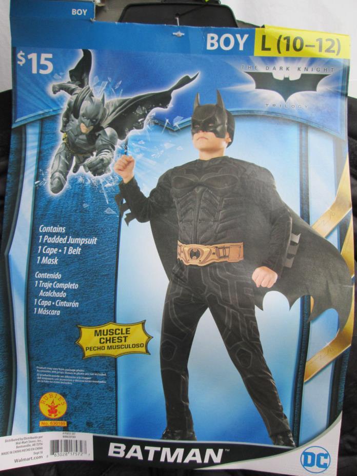BATMAN Boys L (10-12) Halloween Dress-Up Costume NEW