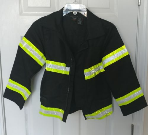 Firefighter Jacket Child size Halloween Costume Black