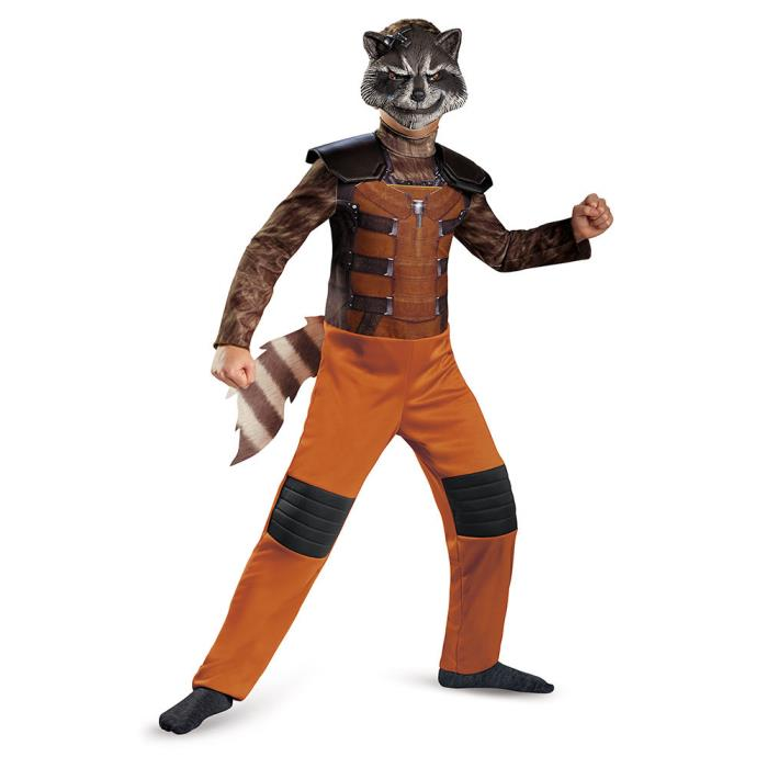 Guardians Of Galaxy Rocket Raccoon Boys Costume Jumpsuit Mask Marvel Vol kids