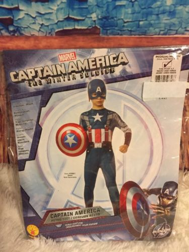 Marvel Captain America Child Costume The Winter Soldier Boys Medium Sz 8-10 New