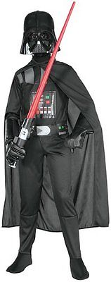 New Boys Star Wars Darth Vader  Halloween Costume Large 12-14
