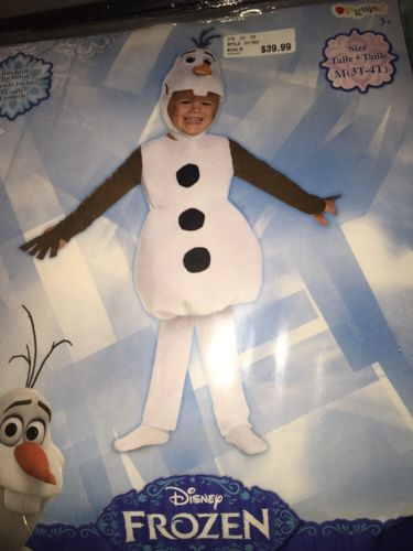 Disney Frozen Olaf Kids Costume Size 3T-4T Toddler New Snowman Medium