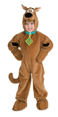 Scooby Doo Boys Deluxe Costume Child Plush Headpiece Jumpsuit Outfit kids fancy
