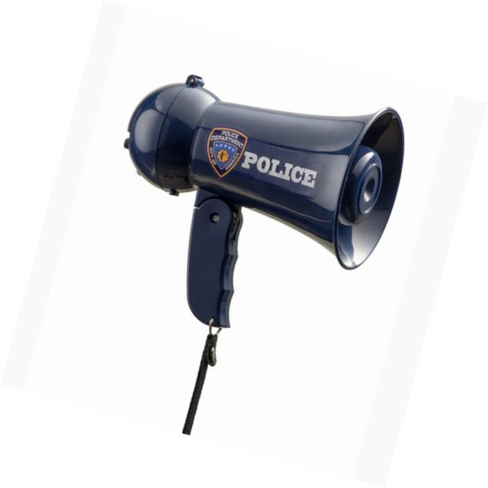 Police Officer Child Megaphone