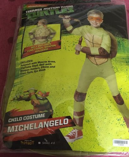 Teenage Mutant Ninja Turtles Michelangelo Costume Childs Small Halloween