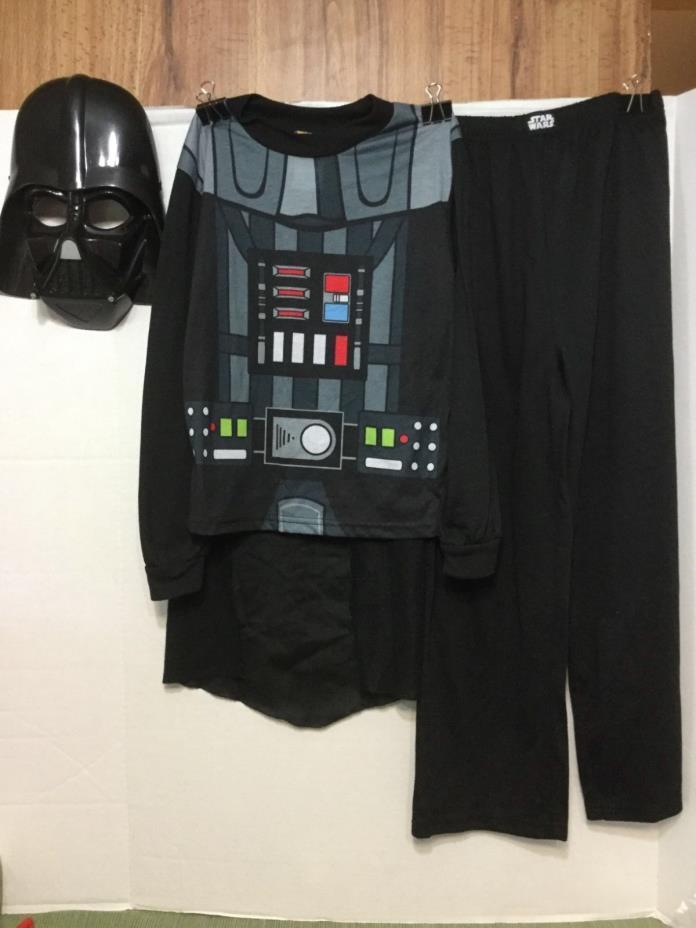 Darth Vader Pajama Top Cape & Mask Halloween Costume 8 Boys/Kids Excellent