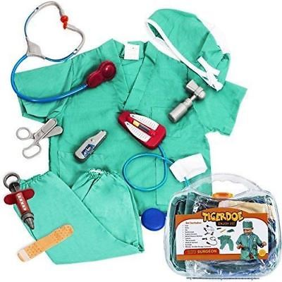 Surgeon Costume for Kids - Kid Surgeon Kit w/ Toy Surgeon Accessories - Dress Up