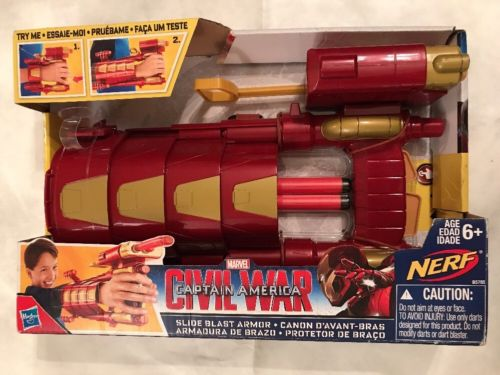 Nerf Ironman Captain America Civil War Slide Blast Armor
