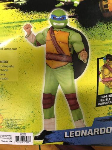 NEW Teenage Mutant Ninja Turtles Leonardo Padded 3D Shell Costume Size L 10/12