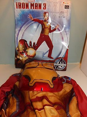 Marvel Iron Man 3 Iron Man Mark 42 boys M 7-8  costume Halloween