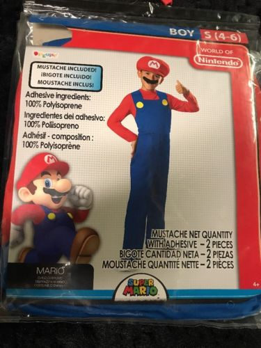 Disguise Nintendo Super Mario Brothers Classic Boys Costume Small 4-6