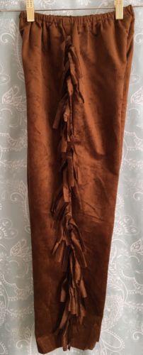 Child Fringed Pants Cowboy Dress Up costume boy Girl Medium 8 10 sheriff