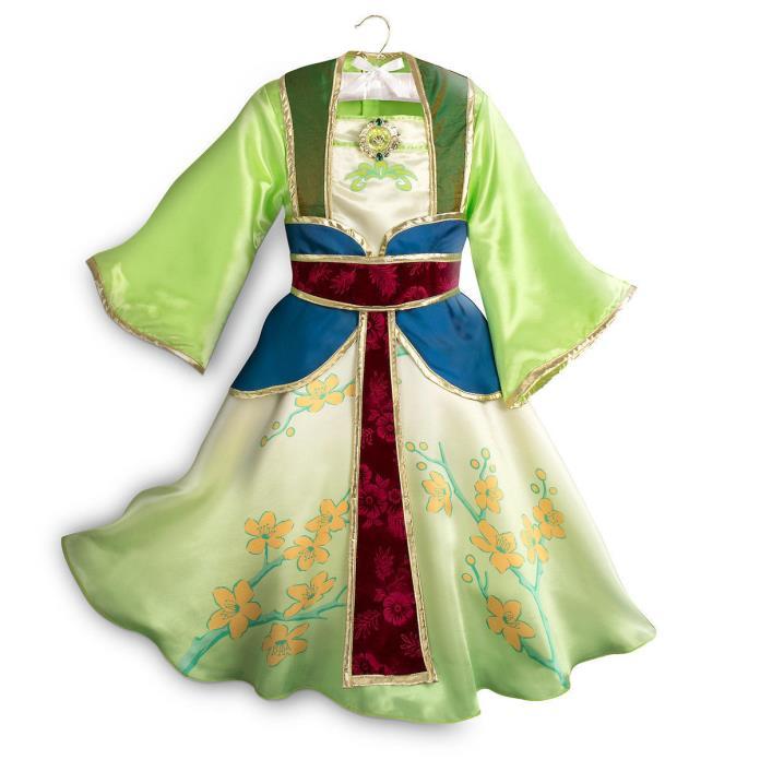 NWT Disney Store Mulan Costume Set Kimono 7/8,9/10 Girl