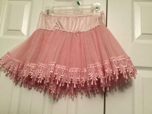 Princess Pink Petticoat Girls Size Medium  8/10 USA SELLER