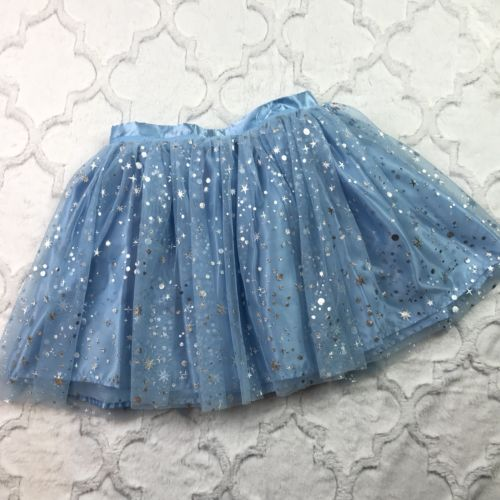 Disney Store Blue Dress Up Halloween Costume TUTU Skirt Star Burst Girls 9-10