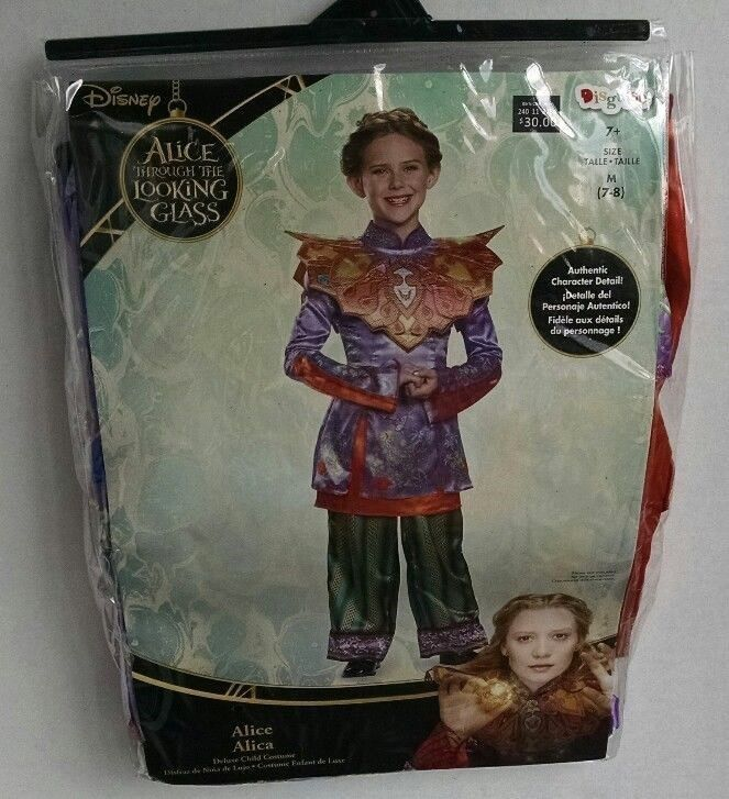 Alice Through the Looking Glass Disney Costume Girl's Med 7-8 Halloween Dress Up