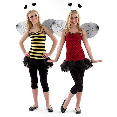 New halloween costume girls size 10-12 or junior size 0-1 Buggin Out Reversible