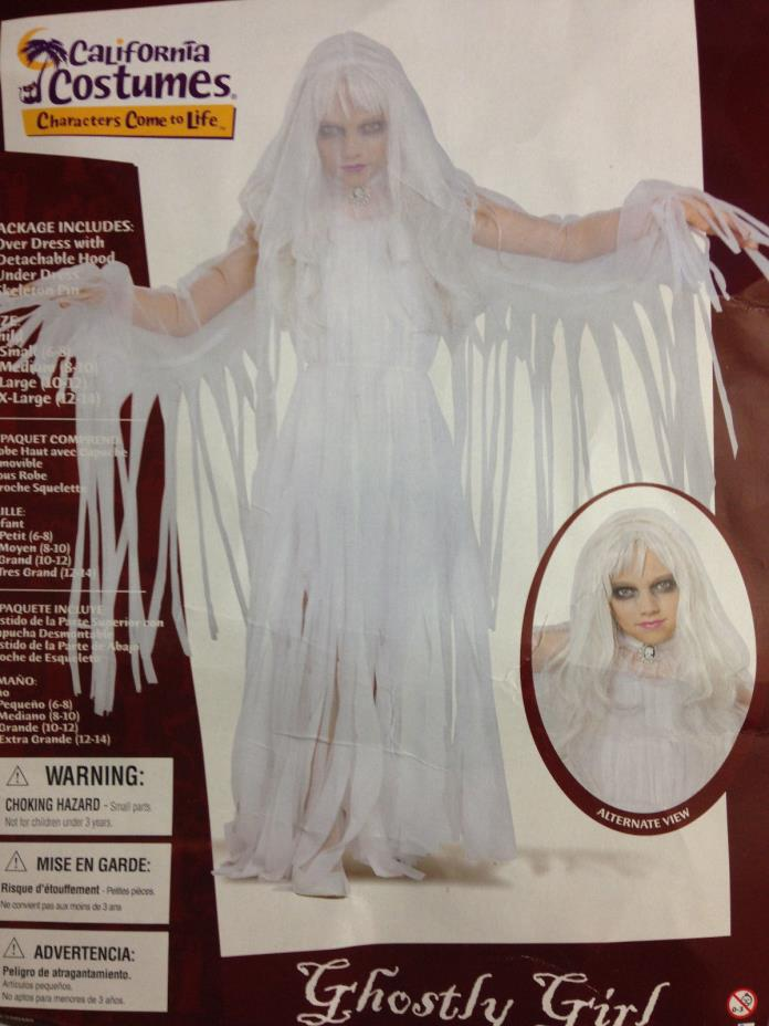 Girls Ghostly Girl Halloween Costume SMALL (6-8)