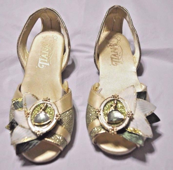 Disney Store Tiana Costume Shoes The Princess N The Frog Size 2/3 Girl NWOT
