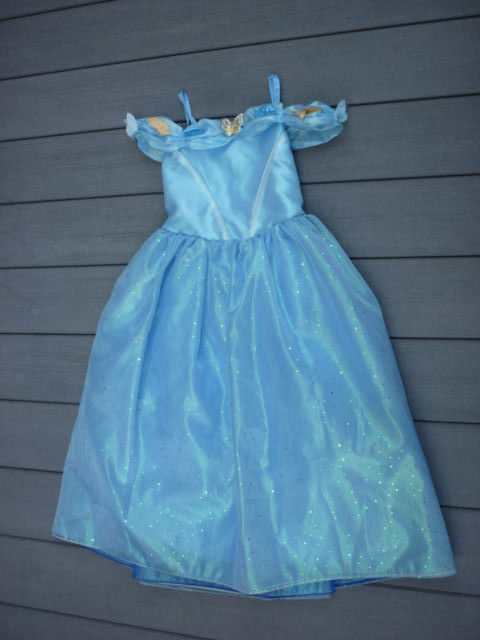 Disney Collection Princess Cinderella Costume Party Gown Dress Size 9-10 EUC
