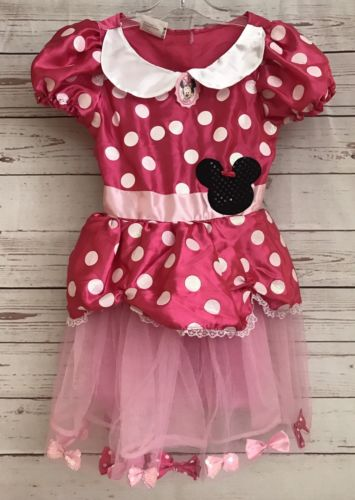 DISNEY MINNIE MOUSE PINK Fantasy Play COSTUME DRESS UP COSPLAY SIZE 4-5-6X
