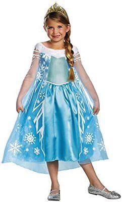 Disney Frozen Elsa Deluxe Costume, 10-12.