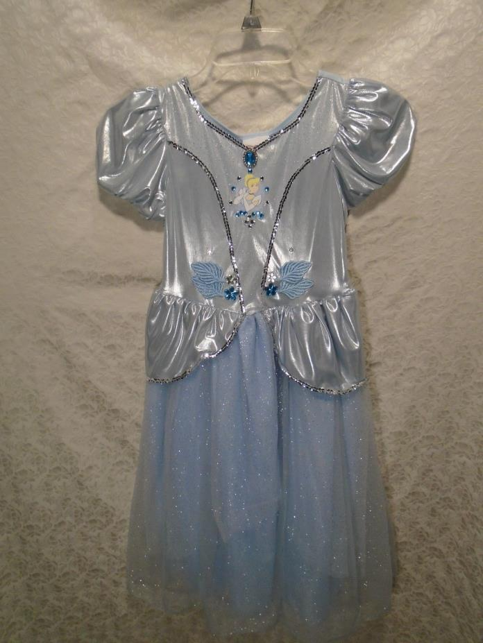Disney Store Girls' Sparkle Cinderella Dress Gown Costume Size Medium 7-8