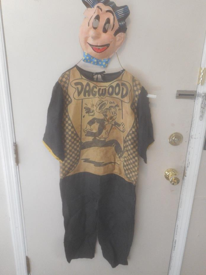 Vintage Childs Halloween Costume Ben Cooper Dagwood Bumstead with Mask