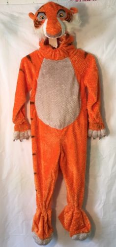 Lion Halloween Costume Sheer Khan Footed Fleece Youth Size Small ( Disney)