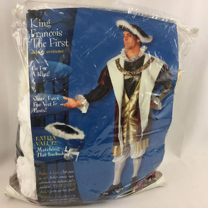 King Francois The First Renaissance Costume Mens Adult Fits up to 46 Reenactment