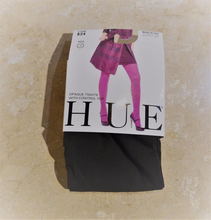 302   HUE Expresso Brown Opaque Nylon Womans Tights 2