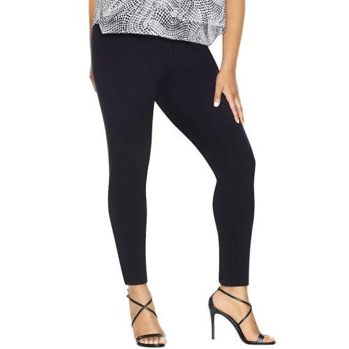 Just My Size Stretch Cotton Womens Leggings - Plus Size - BLACK  2XL-3XL