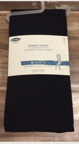 Old Navy Women Black Tights Sz M/L NWT New medium large Winter Fall comfortable