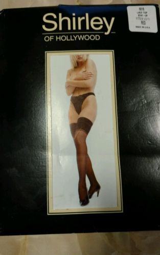 Red Shirley of Hollywood 6618 sheer lace top  stockings thigh highs 8.5-11 NEW