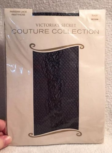 Parisian Lace Pantyhose Victorias Secret Couture Collection Sz M