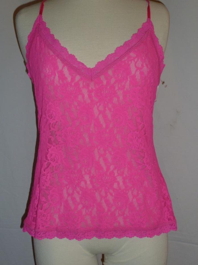 Hanky Panky Camisole Signature Lace Hot Pink Adjustable Straps L