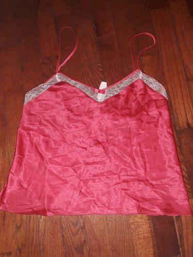 VICTORIA'S  SECRETS Ladies red / cream lace camisole top - Medium