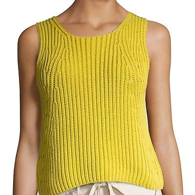 NEW VINCE WOMENS CHUNKY RIB-KNIT TANK TOP