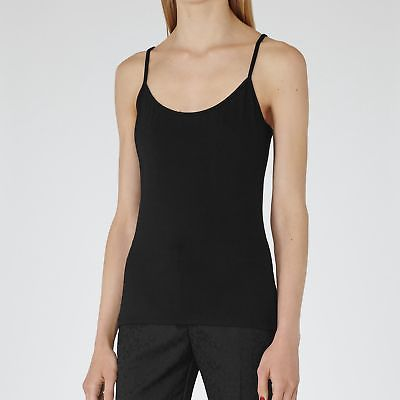 NEW CAMELLIA JERSEY CAMI TOP BLACK WOMENS CAMELLIA JERSEY CAMI TOP BLACK