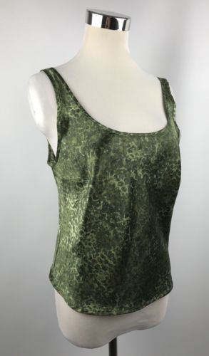 Victorias Secret Small Cami top PJ Green Animal Print Lightweight