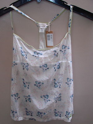 USA S EURO M NWT  AUTHENTIC DIESEL LADIES CAMISOLE MULTI FLORAL DESIGN